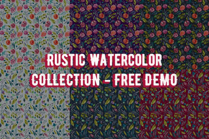 Rustic Watercolor Collection Freebie