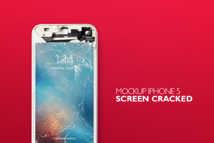 Free Cracked iPhone Mockup