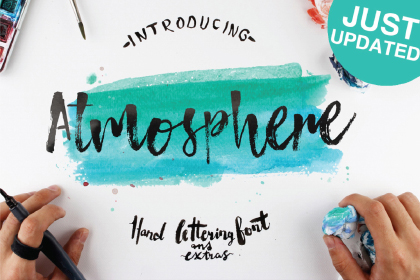 Atmosphere Free Brush Font