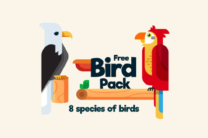 Free Bird Illustration Pack