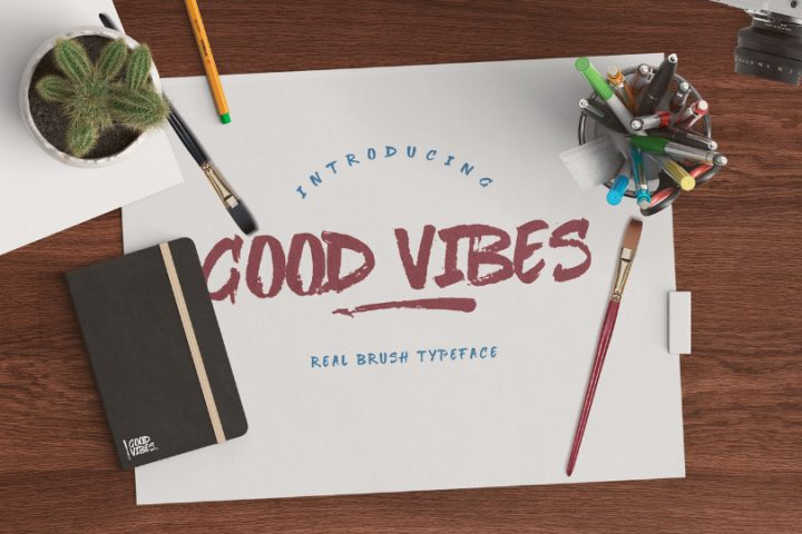 Good Vibes Brush Typeface