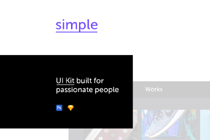Simple-Free Minimal UI Kit