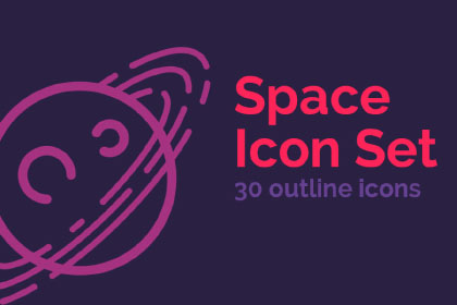 Space - 30 Free Outline Icons