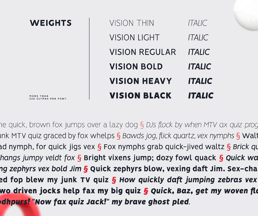 Vision Free Font Family