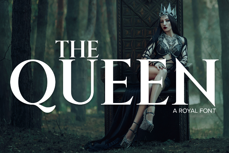 The Queen Free Serif Font