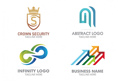 4 Free Colorful Logo Templates