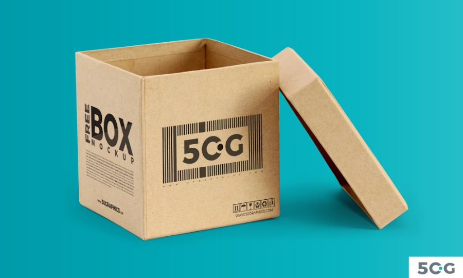 Free Open Box Mockup PSD