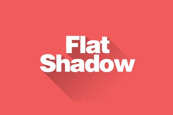 Flat Shadow Photoshop Action