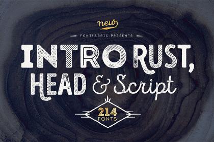 Intro Rust Font