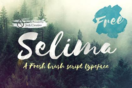 selima script free font
