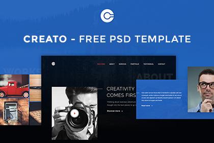 Creato Free PSD Template