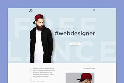 JD – Free Personal PSD Template