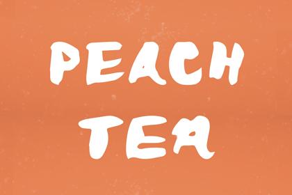 peach-tea-free-font