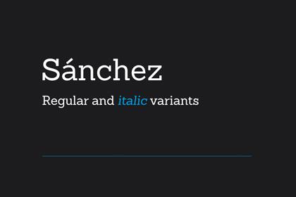 sanchez-free-font