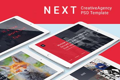 Next PSD Template