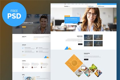 Business Plus Free PSD Template