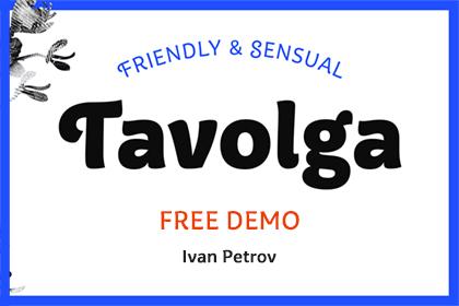 Tavolga Font Free Demo