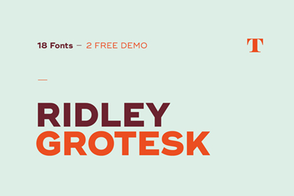 Ridley Grotesk Free Demo
