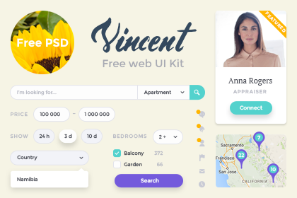 Vincent web UI kit