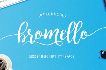 bromello-free-font
