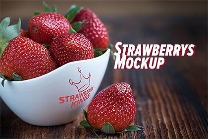 Strawberry's Bowl Mockup