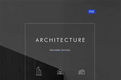 Architecture - Minimalistic Line Icons