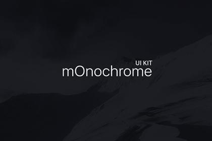 mOnochrome – Free UI KIT