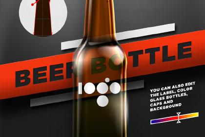 Beer Shape Bottle Mockup