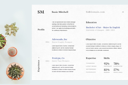 Free Resume Template Vol 2