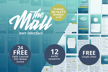 The Mall - Mobile UI kit