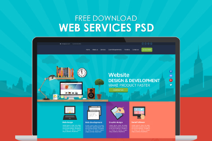 Free Web Services PSD