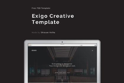 Exigo - Free PSD Template