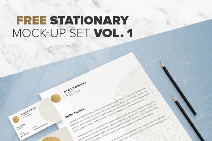 Free Stationary Mock-Up Set Vol.1