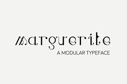 Marguerite Font - A Modular Typeface
