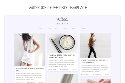 Midloker - Free PSD Template