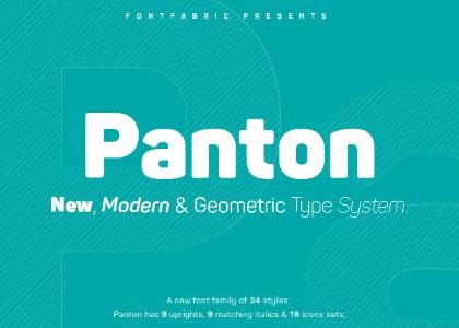 Panton Typeface