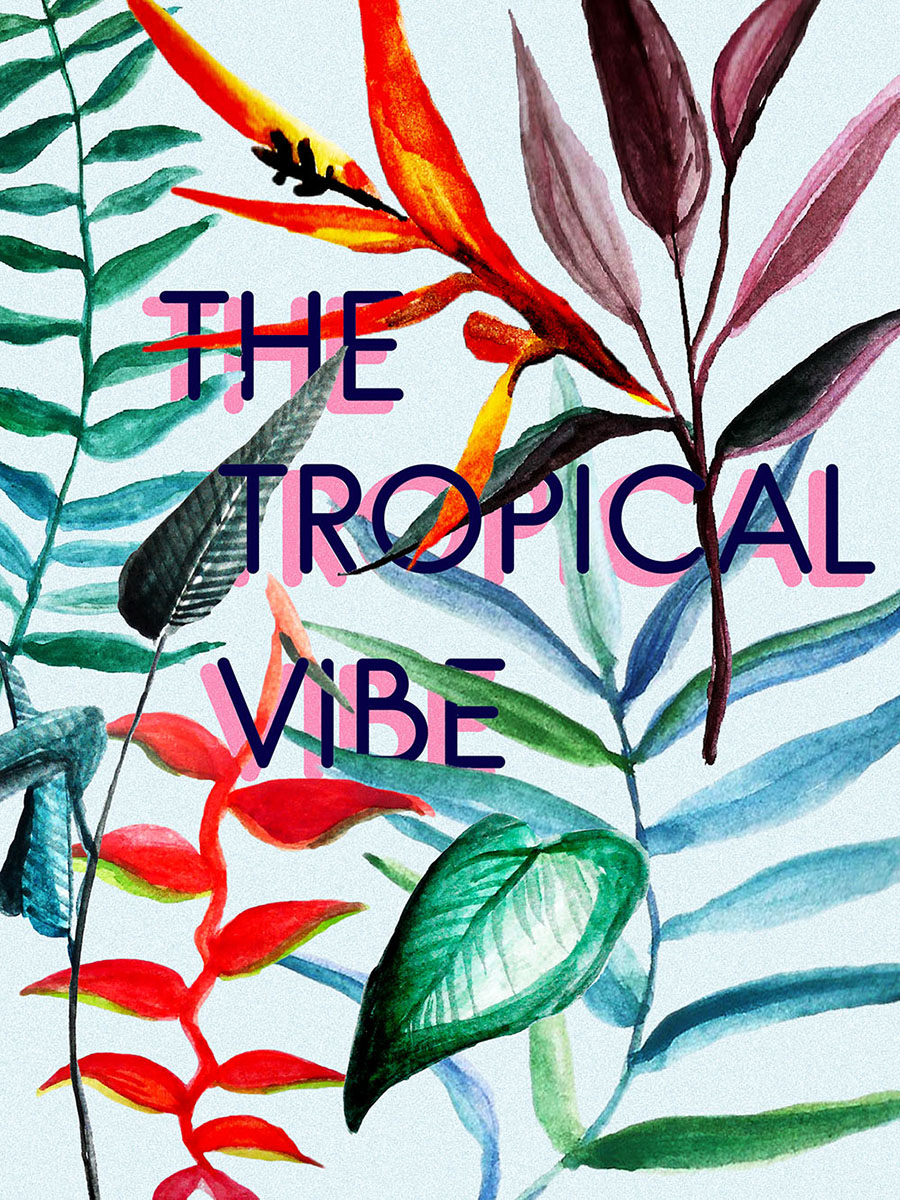 The Tropical Vibe - Free Brush and Elements