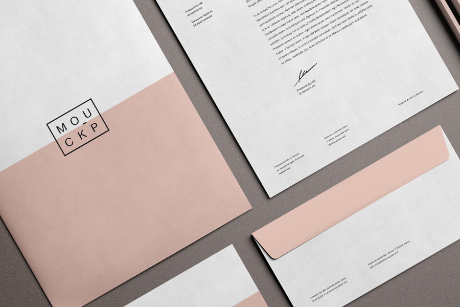 advanced branding stationery mockup  u2014 free design resources