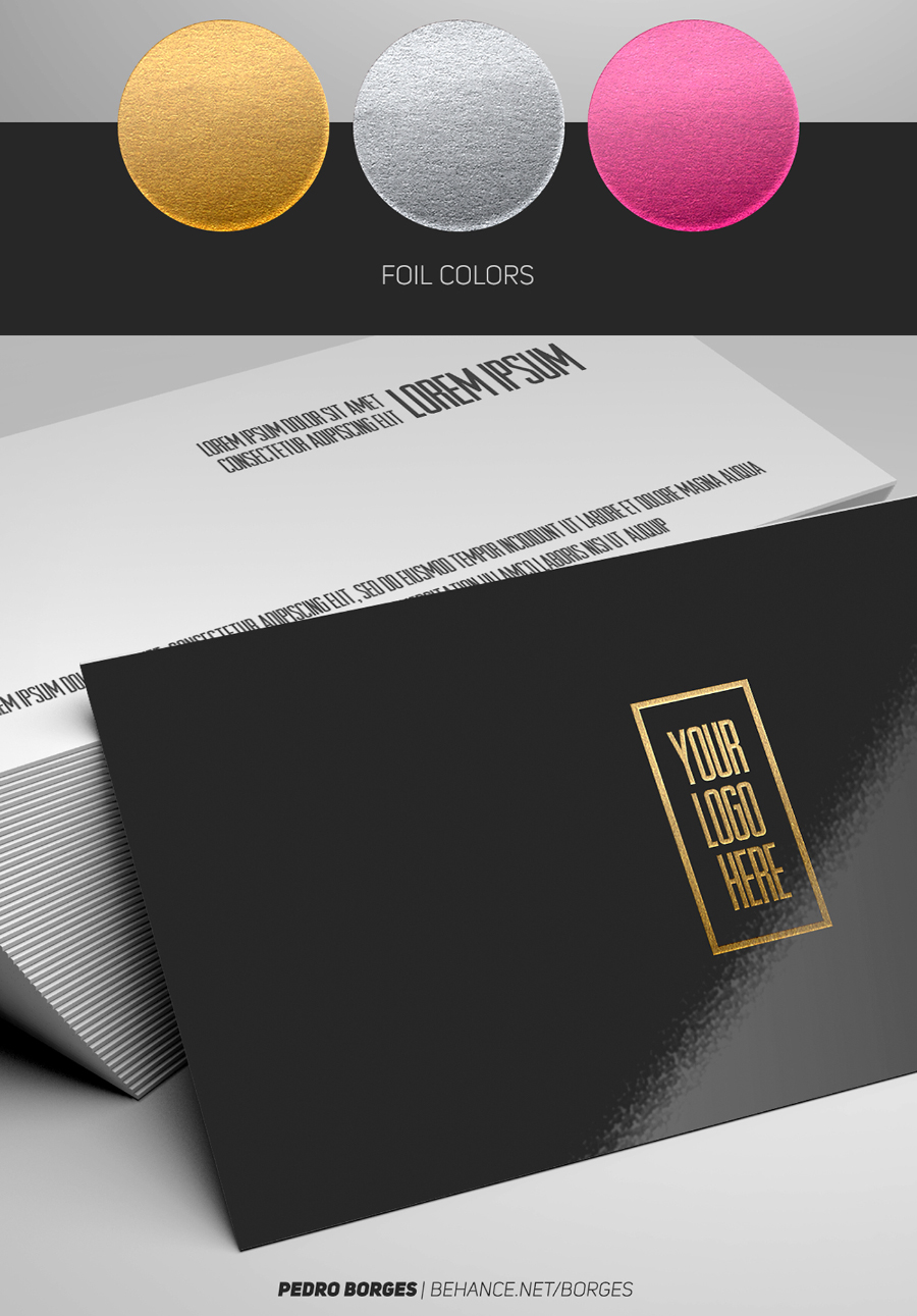 Business Card Foil - Mockup - Free Design Resources