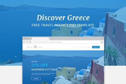 Discover Greece PSD Template
