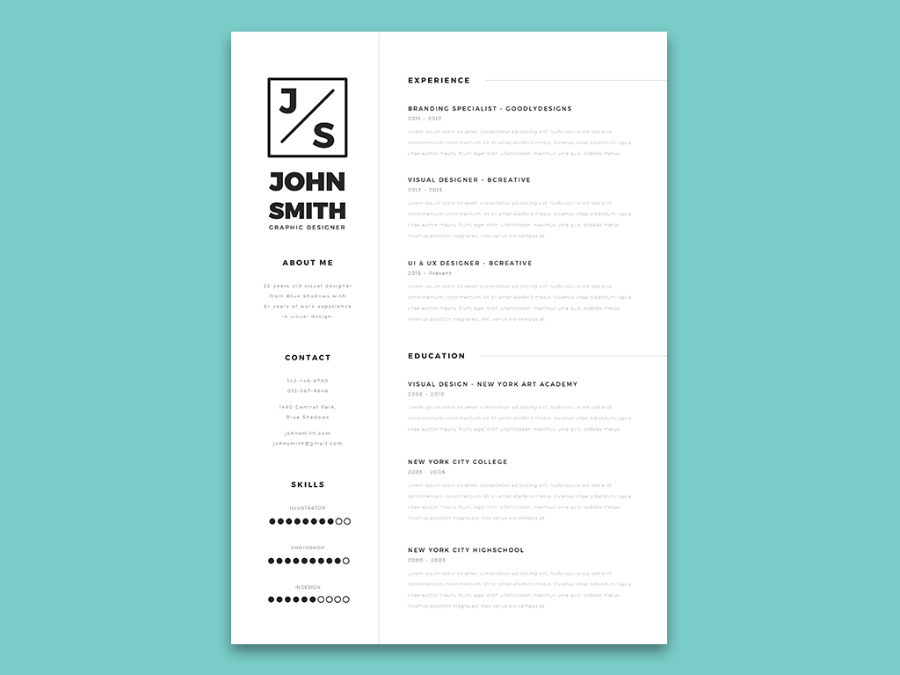Minimalistic Resume  Cover Letter Template  Free Design Resources