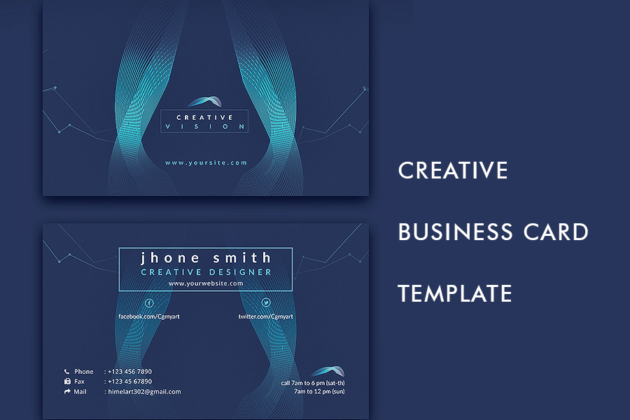 Creative business card template free design resources creative business card template flashek Gallery