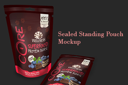 Sealed Standing Pouch Mockup