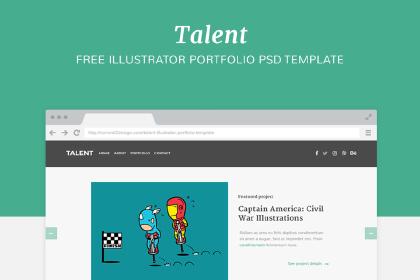 Talent - Free PSD Template