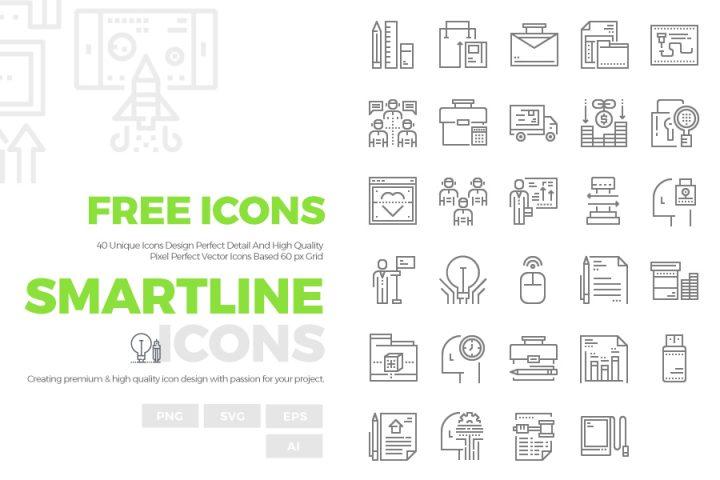 40 Free Smartline Icons