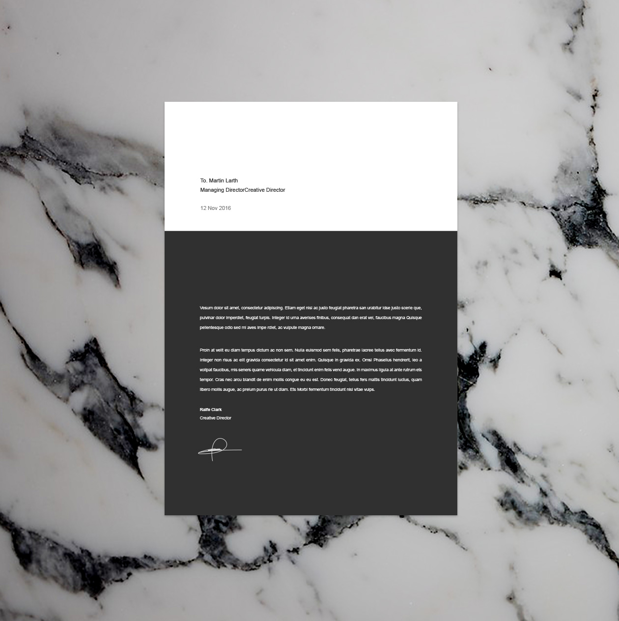 BW Resume Template