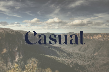 Casual Free Serif Typeface