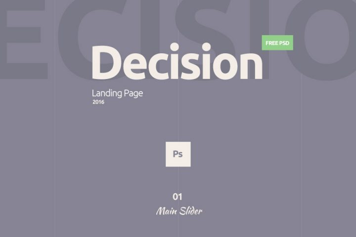 Decision Free PSD Landing Page