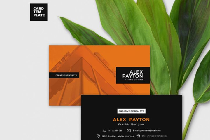 Duo Tone Business Card Design Template