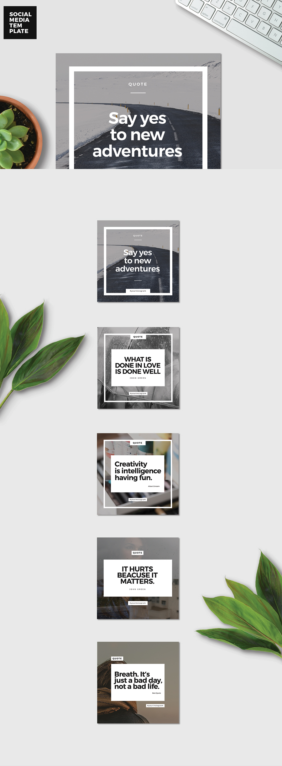 Free 5 Instagram Promotional Templates — Free Design Resources